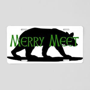 Merry Meet Spirit Bear Aluminum License Plate