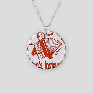Satan's Instrument Necklace Circle Charm