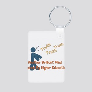Wasted Education Aluminum Photo Keychain