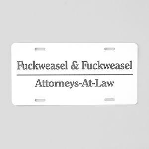 Lawyer Humor Aluminum License Plate
