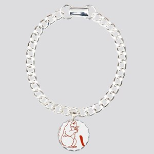Squirrely Charm Bracelet, One Charm