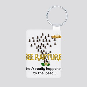 Alien Rapture Bees Aluminum Photo Keychain