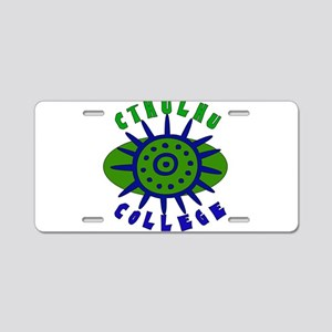 Cthulhu College Aluminum License Plate