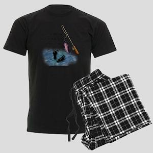 Fishing Here! Men's Dark Pajamas