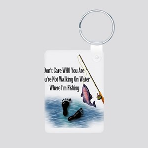 Fishing Here! Aluminum Photo Keychain