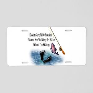 Fishing Here! Aluminum License Plate