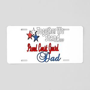 Coast Guard Father Aluminum License Plate
