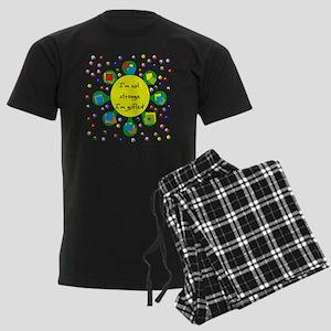 Gifted Not Strange Men's Dark Pajamas