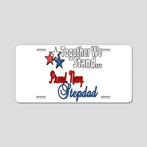 Proud Navy Stepdad Aluminum License Plate