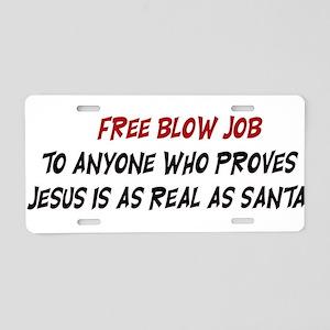 Free Blow Job Aluminum License Plate