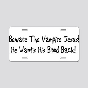 Vampire Jesus Aluminum License Plate