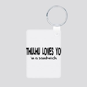 Cthulhu Loves You Aluminum Photo Keychain