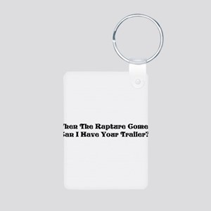 Rapture Humor Aluminum Photo Keychain