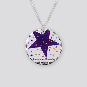 Starry Night Necklace Circle Charm
