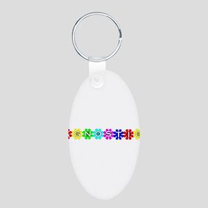 Agnostic Aluminum Oval Keychain