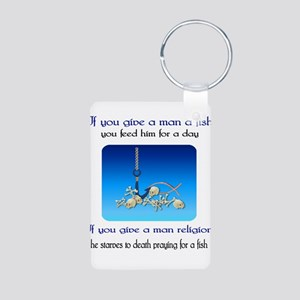 Pray For Fish Aluminum Photo Keychain