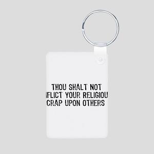Anti-Religious Aluminum Photo Keychain