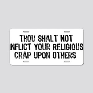 Anti-Religious Aluminum License Plate