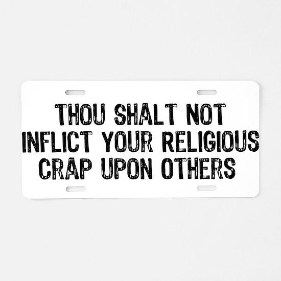 Anti-Religious Aluminum License Plate