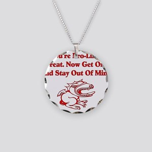 Get A Life Necklace Circle Charm