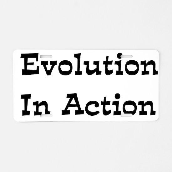 Evolution In Action Aluminum License Plate