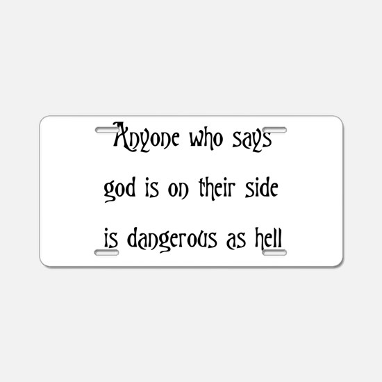 God On Their Side Aluminum License Plate