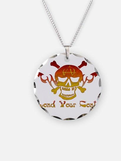 Anarchist Skull Necklace