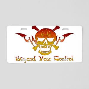 Anarchist Skull Aluminum License Plate