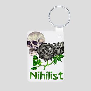 Nihilist Skull Aluminum Photo Keychain