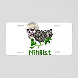 Nihilist Skull Aluminum License Plate