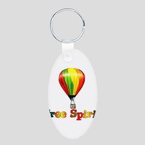 Free Spirit Aluminum Oval Keychain