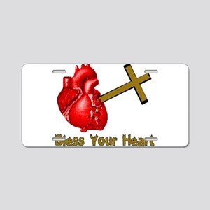 Bless Your Bloody Heart Aluminum License Plate