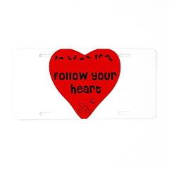 Heart Follower Aluminum License Plate