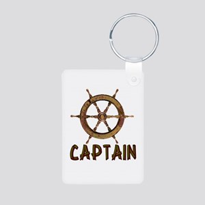 Captain Aluminum Photo Keychain
