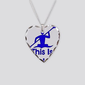 Kayaking Necklace Heart Charm