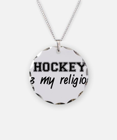 Hockey Is My Religion Necklace