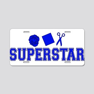 Rock Paper Scissors Superstar Aluminum License Pla