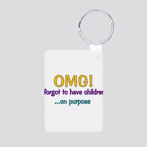 Forgot To Have Children Aluminum Photo Keychain