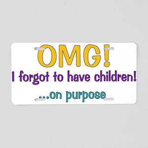 Forgot To Have Children Aluminum License Plate