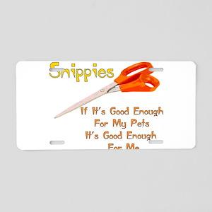 Snippies Aluminum License Plate