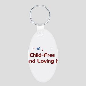 Child Free Aluminum Oval Keychain
