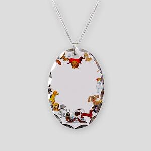 Dog Love Necklace Oval Charm