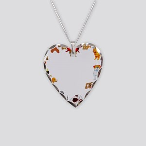 Dog Love Necklace Heart Charm