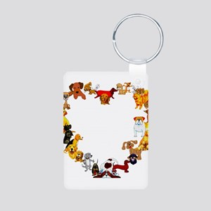 Dog Love Aluminum Photo Keychain