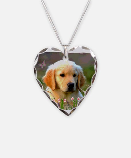 Austin, Retriever Puppy Necklace
