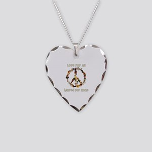 Dogs Of Peace Necklace Heart Charm