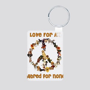 Dogs Of Peace Aluminum Photo Keychain