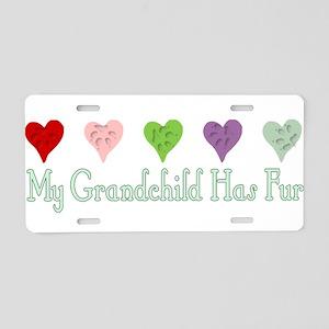Furry Grandchild Aluminum License Plate