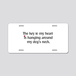 Key To My Heart Aluminum License Plate