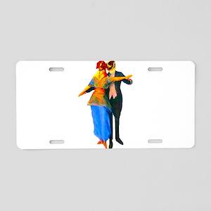 Doggie Ballroom Dancers Aluminum License Plate